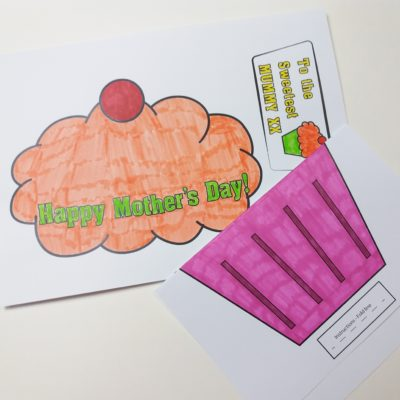 Mother's Day Cupcake Card